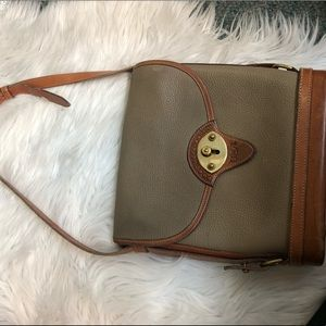 All leather vintage Dooney & Bourke crossbody